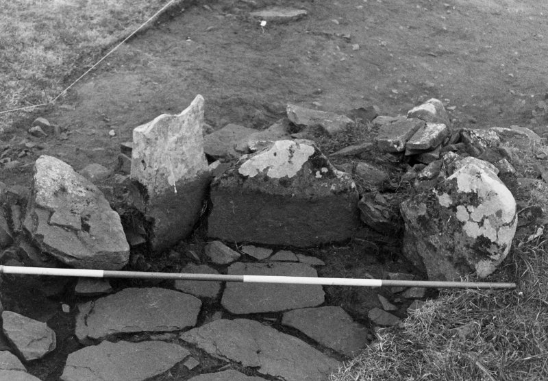 Trench 1,area A, upper paved feature,after cleaning from south east