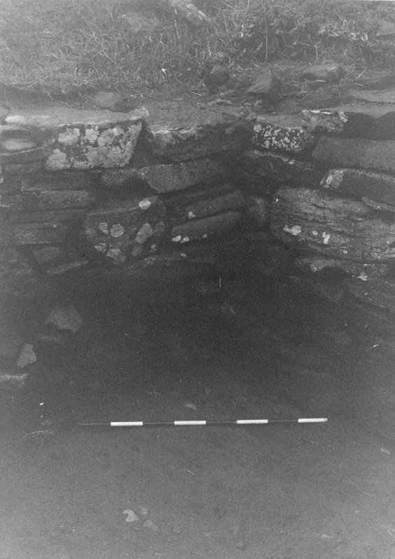 Trench 1, Area B. Junction of North and West walls of outbuildings. From South-East.