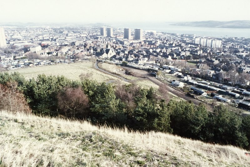 Excavation photograph : view from Dundee Law.