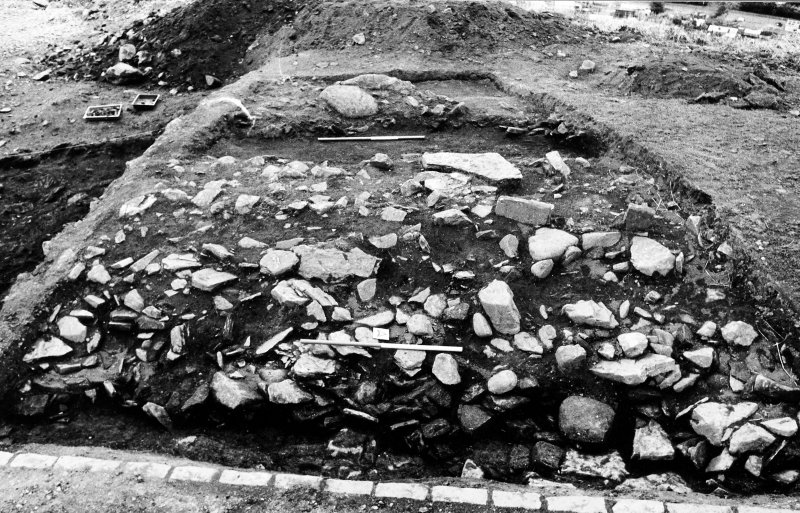 Excavation photograph : north segment of bank showing ditch to west.