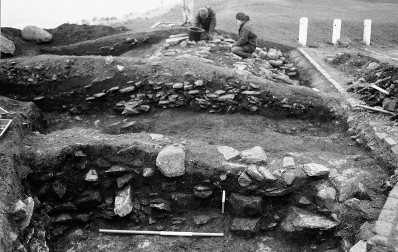 Excavation photograph : section - south face of south baulk.