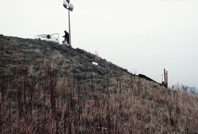 Excavation photograph : test pitting on south side for engineers on Dundee Law.
