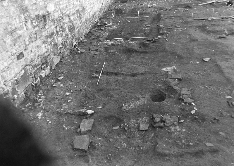 Excavation photograph : S end of trench 2, from E.