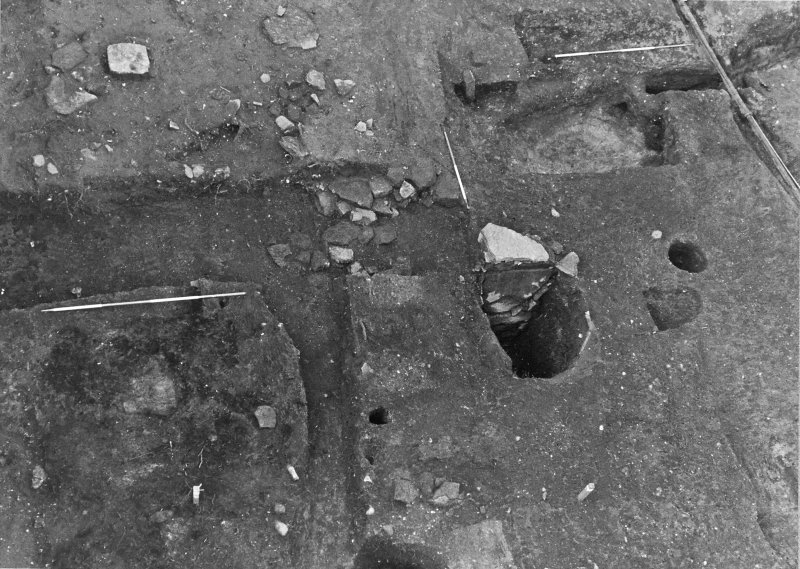Excavation photograph : sub aerial shot of W end of trench 2, from SE.