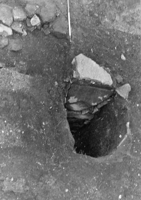 Excavation photograph : sub aerial shot of pit f362, from SE.