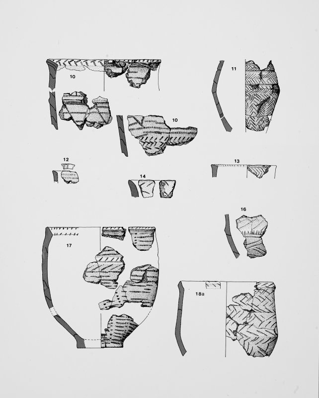 Drawings of pottery, stone & flint work