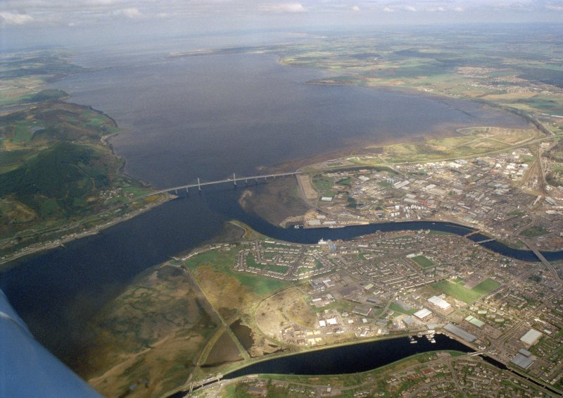 Aerial view of Longman & South Kessock, Inverness, looking, NE.