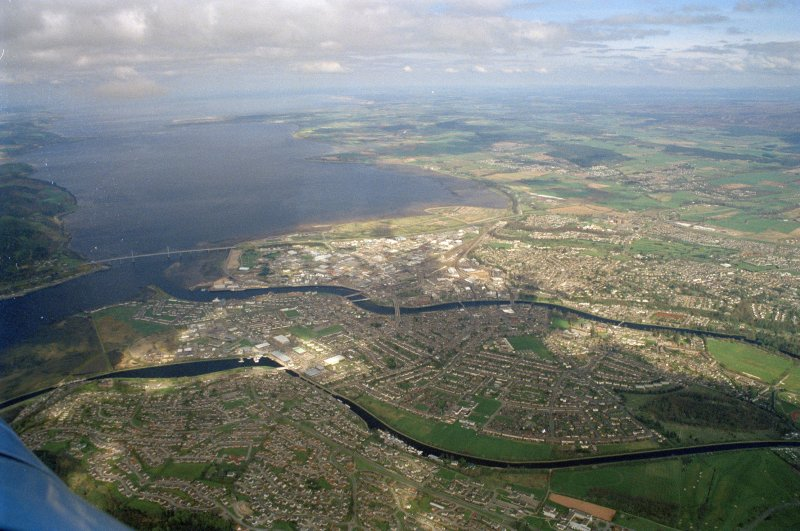 Aerial view of Inverness, looking NE.