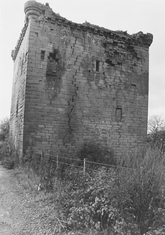 Excavation archive : Sauchie Tower, from E.