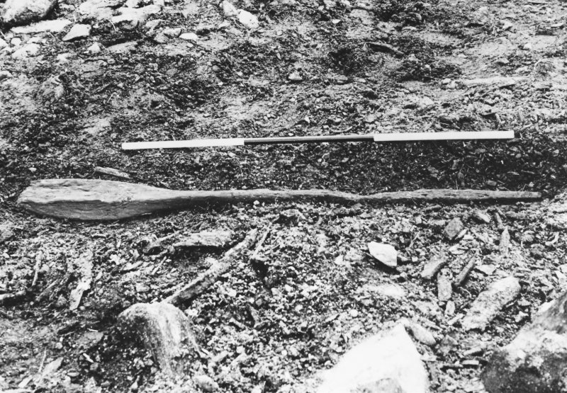 Excavation photograph : wooden oar.