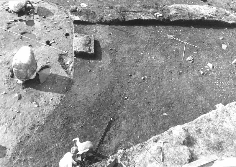 Excavation photograph. Shots from tower to east of site showing newly opened area. Sites 4 and 5.