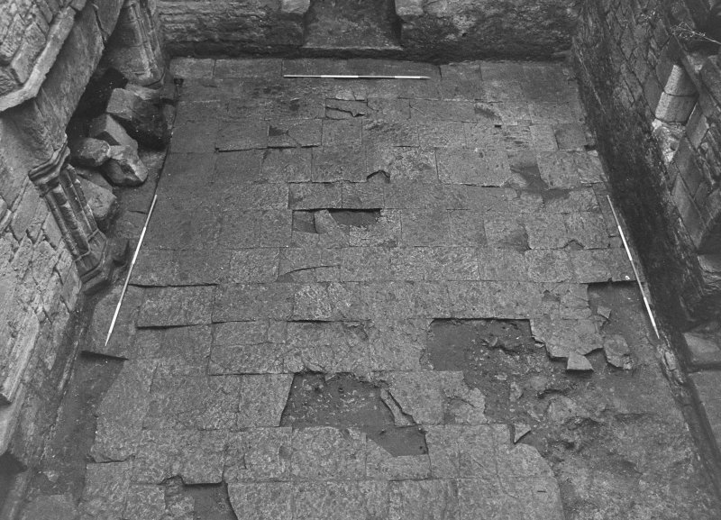Excavation archive: The hall floor. From N.