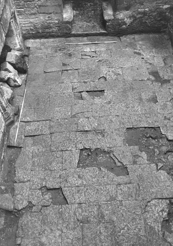 Excavation archive: E side of hall floor. From N.