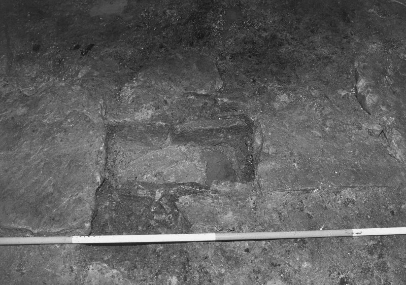 Excavation archive: Unidentified feature, perhaps in floor of cellar.