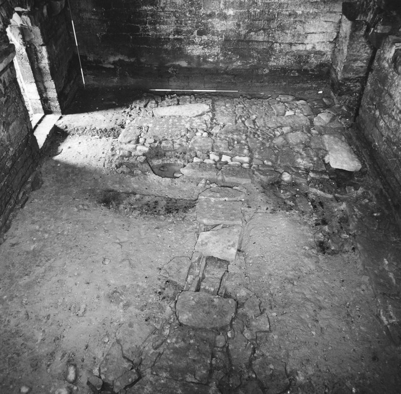 Excavation archive: Ground floor of tower. From S.