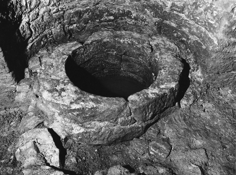 Excavation archive: Well in N wall of tower.