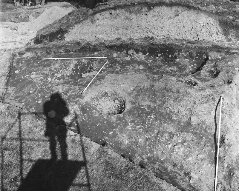 Roberton, motte: excavation photograph of NE sector during excavation C Tabraham, 1979