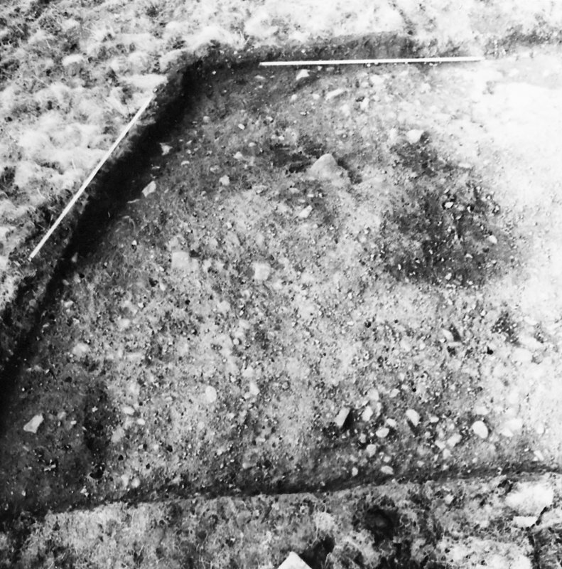 Excavation photograph - site in early stages of excavation.