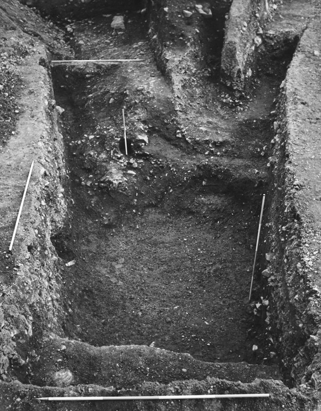 Excavation photograph - trench looking SE.