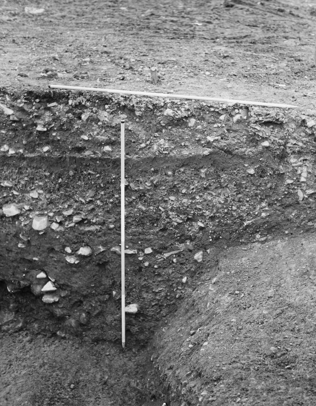 Excavation photograph - counterscarp of ditch.
