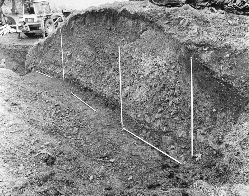 Excavation photograph - east section.