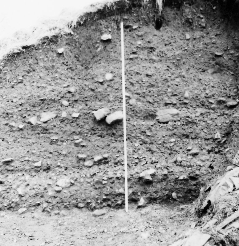 Excavation photograph - east section