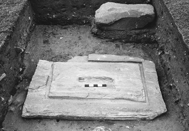 Excavation of cross-base, Kilnave Church, Kilnave.