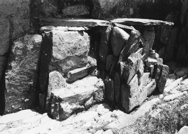 Photograph taken during excavation, altar from S