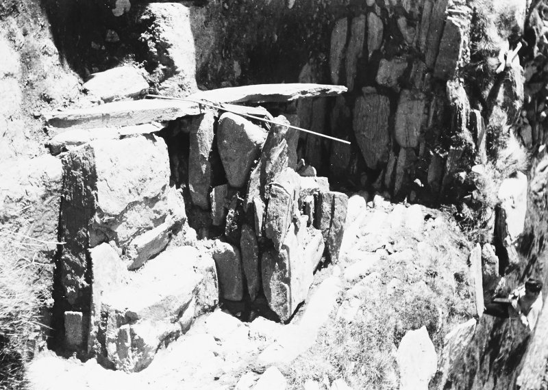 Photograph taken during excavation. View of alter from S.