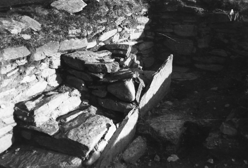 Photograph taken during excavation. View of altar.