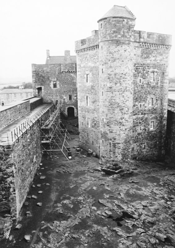 Excavation photograph : general view, N tower, from N.