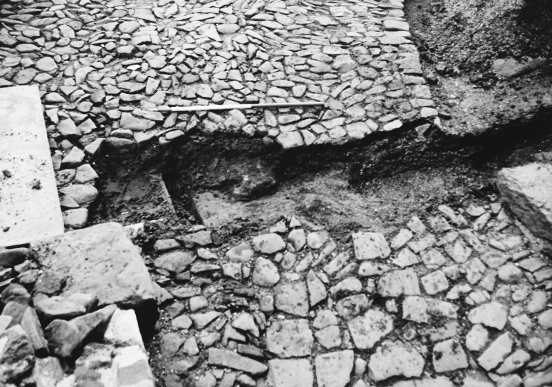 Excavation photograph : trench 2 showing boulders and clay, from W.