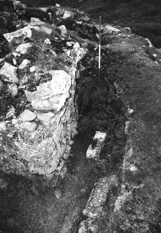 Skye, Duirinish, Dun Fiadhairt General view of stair foot guard cell.