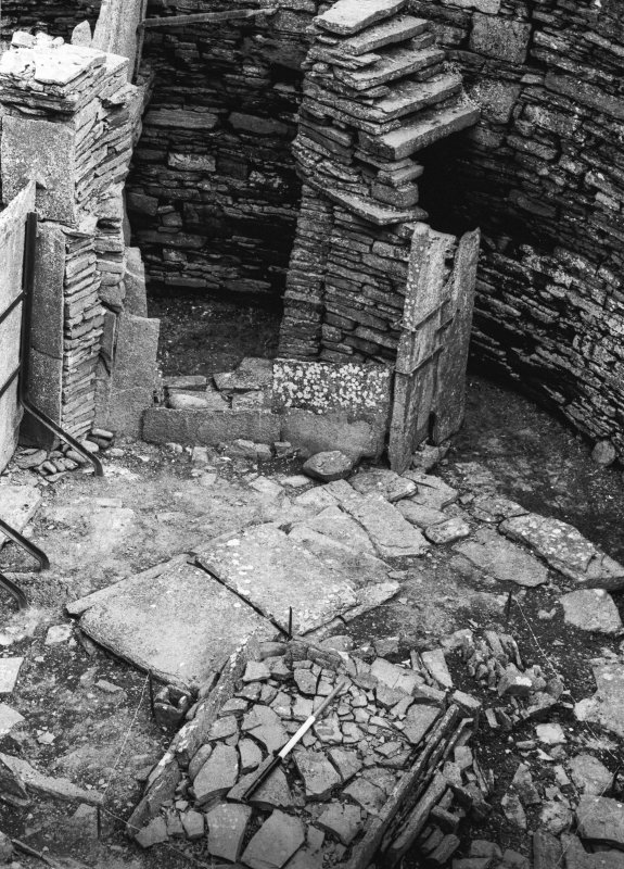 Interior - secondary hearths and constructions against wall