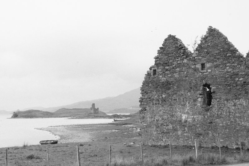 View from South East of Calda House with Ardvreck Castle in the distance