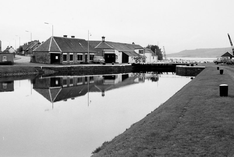 General view of Clachnaharry Lock, Canal Workshops