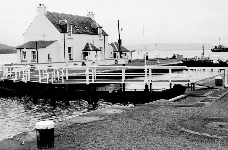 General view of Clachnaharry Sea Locks and Lock Keeper's House
