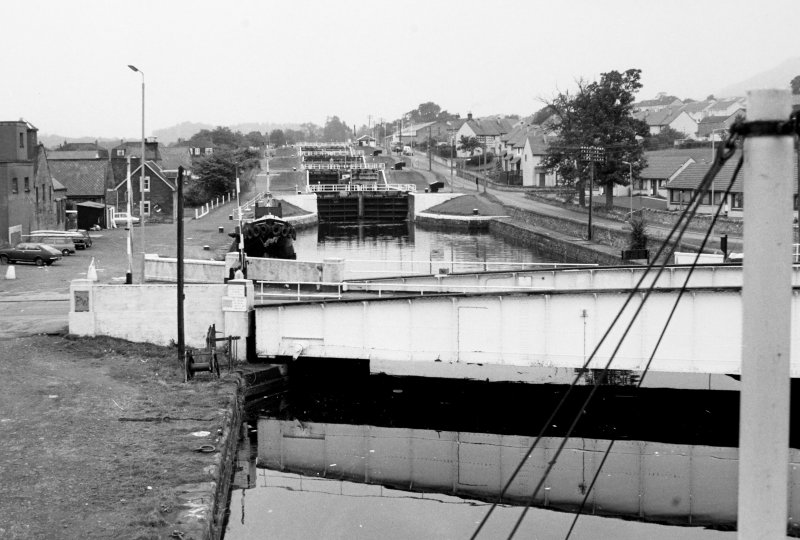General view of Muirtown Locks lock gates
