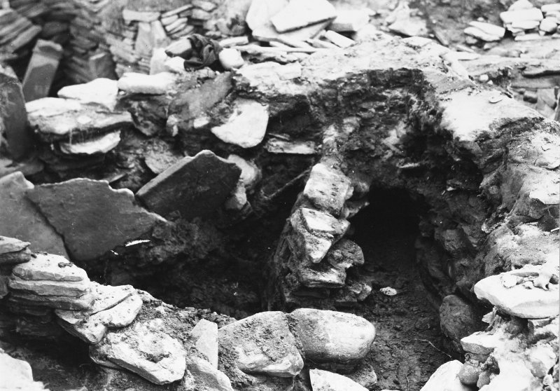 Excavation Photograph: Double wall right of A.