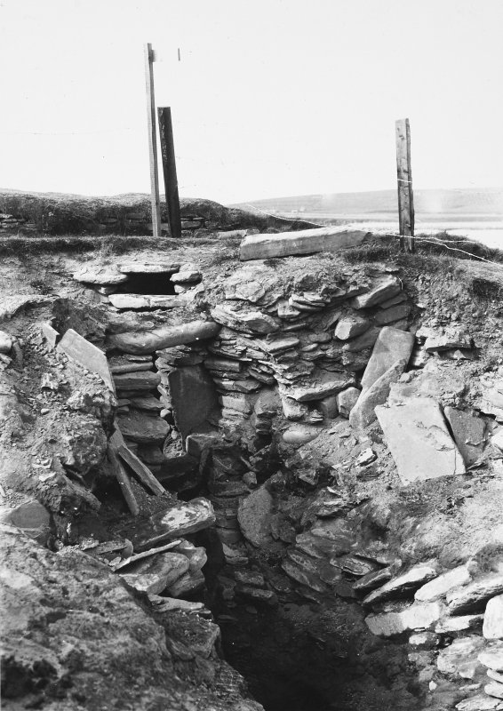 Excavation Photograph: Limpet box etc. in hut 6.