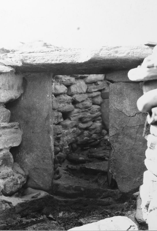Excavation photograph: Gate in passage A.