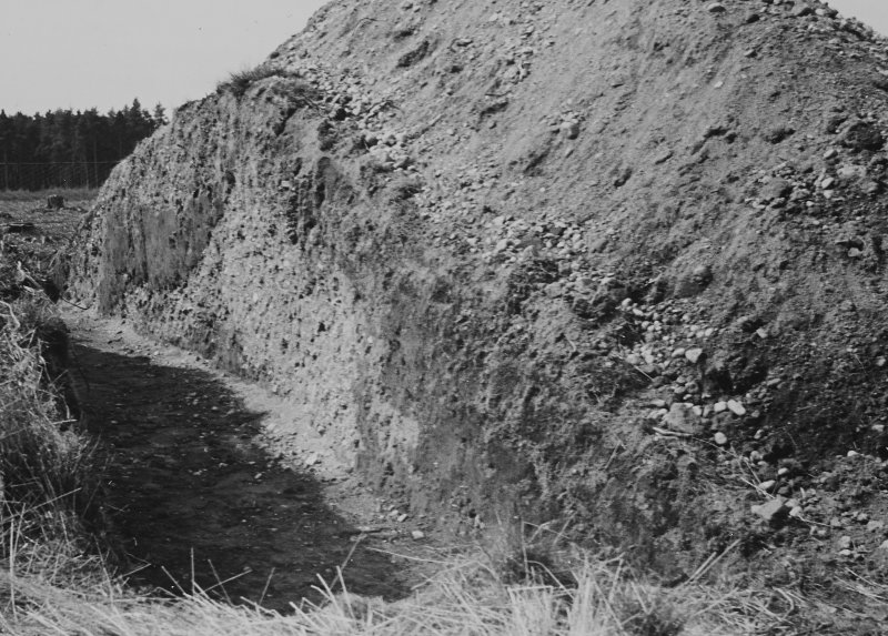 Excavation photograph (at NO 167 402): W section from N (as PT/5484)