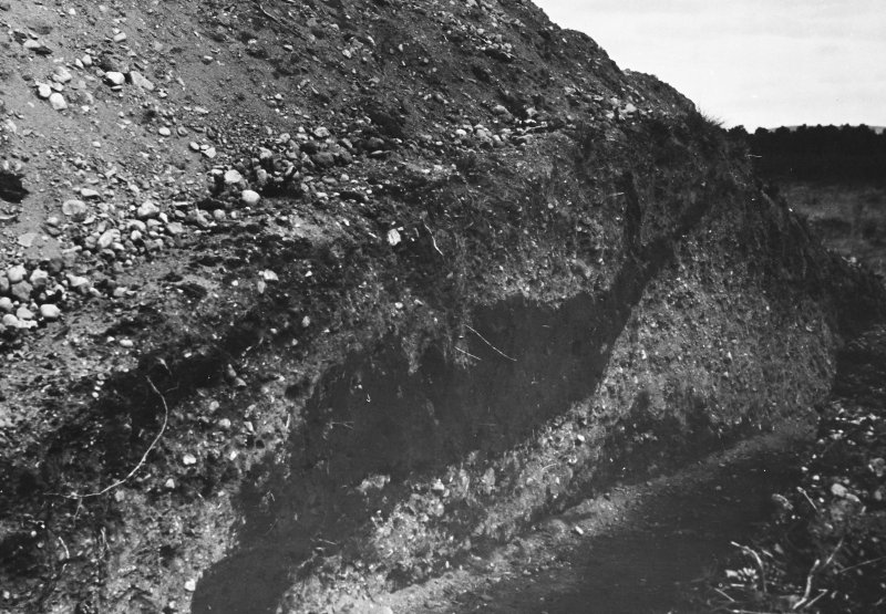 Excavation photograph  (at NO 167 402): W section from S (as PT/5483)