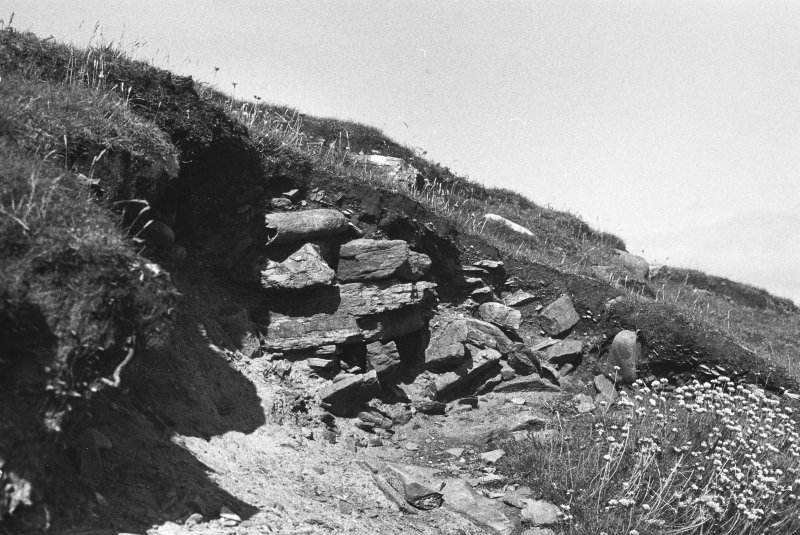 Possibly a survey photograph of a part of the broch?