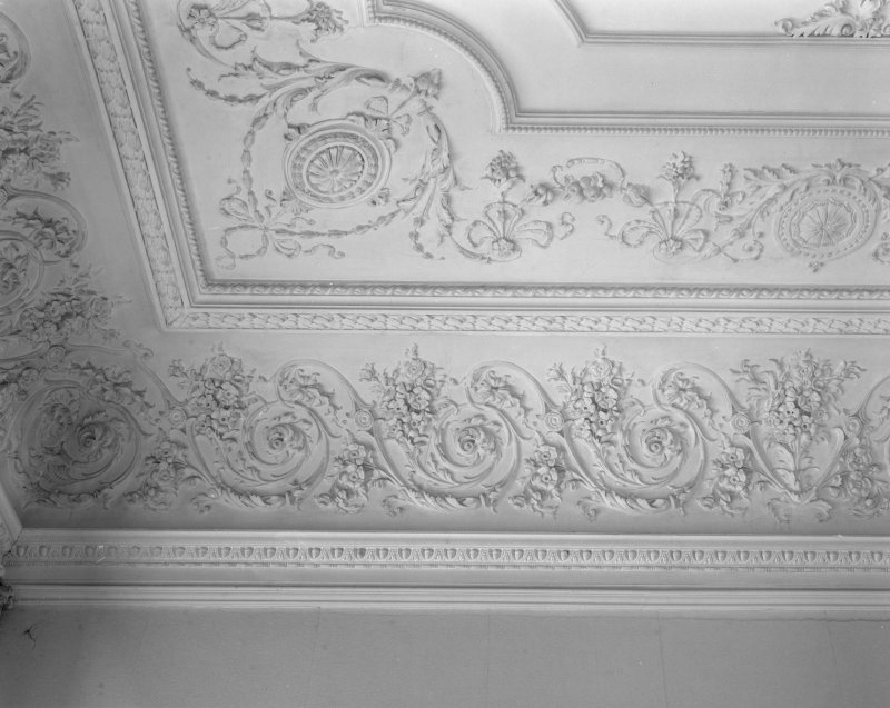 Interior. Music room - ceiling detail.