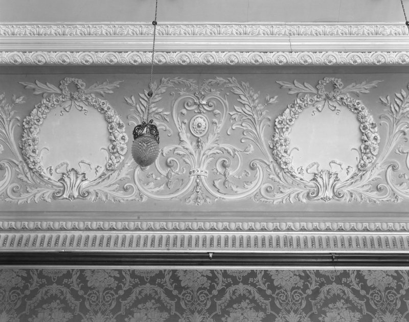 Interior. Ballroom - ceiling detail.