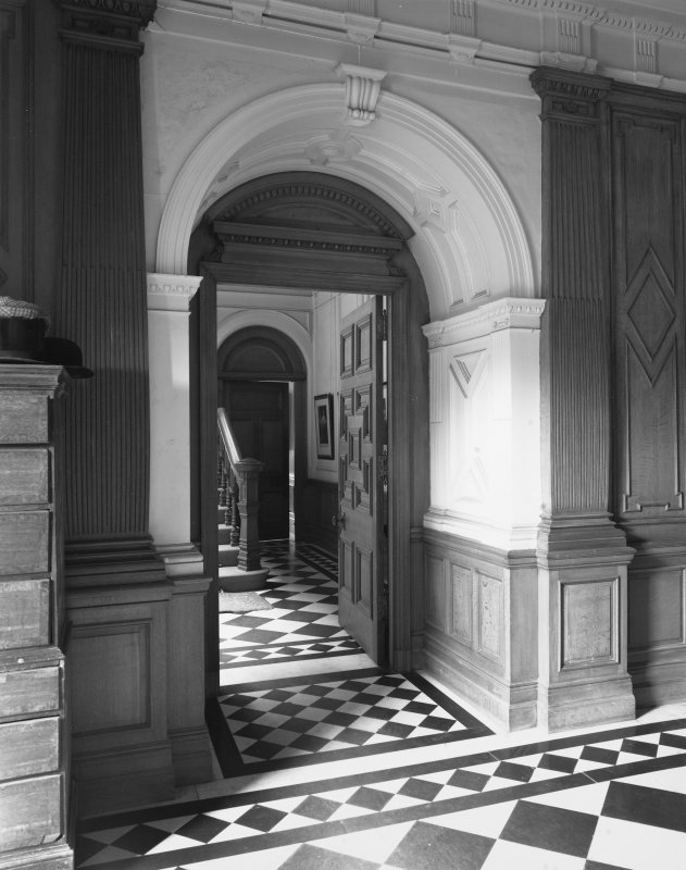 Interior. Vestibule. Entrance to stair and private apartments.