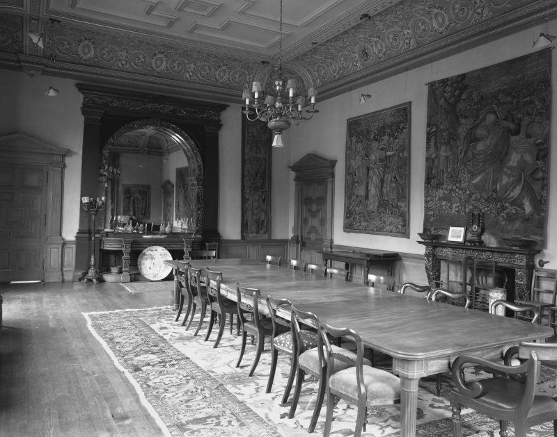 Interior. Music room, now used as a dining room.