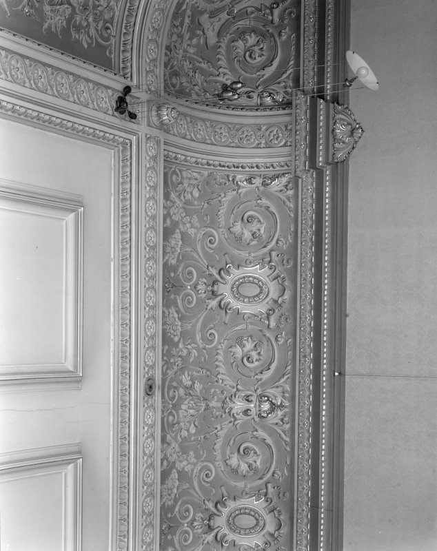 Interior. Dining room - ceiling detail.