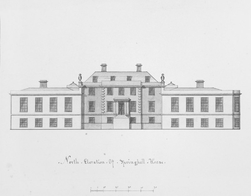 Photographic copy of drawing of N elevation.